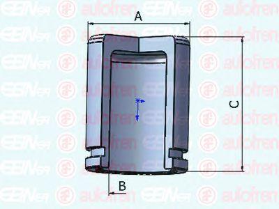 Поршень тормозного суппорта AUTOFREN SEINSA D025302