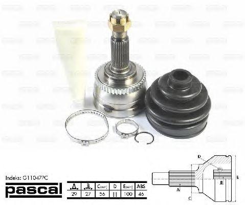 Комплект ШРУСов PASCAL G11047PC