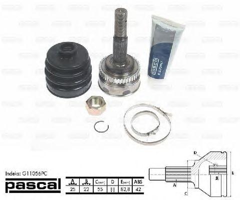 Комплект ШРУСов PASCAL G11056PC