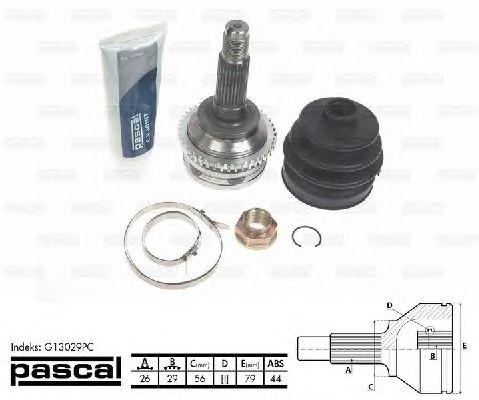 Комплект ШРУСов PASCAL G13029PC