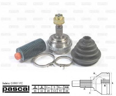 Комплект ШРУСов PASCAL G1F011PC