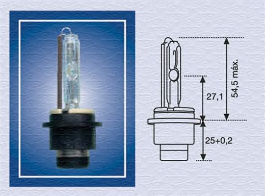 Лампа накаливания MAGNETI MARELLI 002541100000 (фара дальнего света, основная фара)