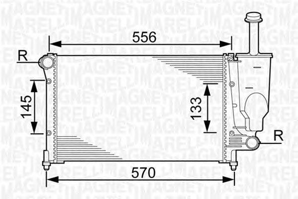 Радиатор, охлаждение двигателя MAGNETI MARELLI 350213381000