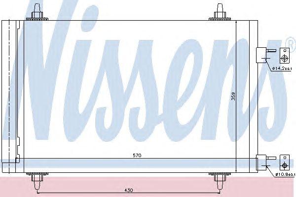 Радиатор кондиционера NISSENS 94758
