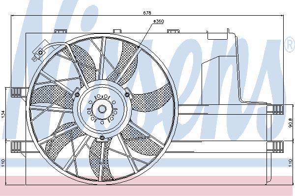 Вентилятор охлаждения NISSENS 85604