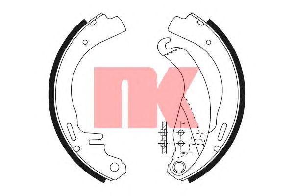 Тормозные колодки NK 2736326
