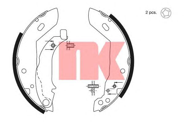 Тормозные колодки NK 2799427