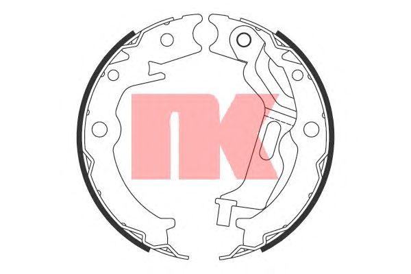 Тормозные колодки ручника NK 2736785