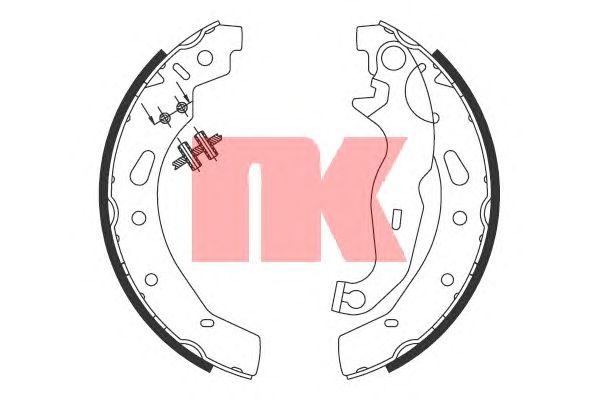 Тормозные колодки NK 2732792