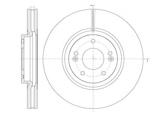 Тормозной диск REMSA 61462.10