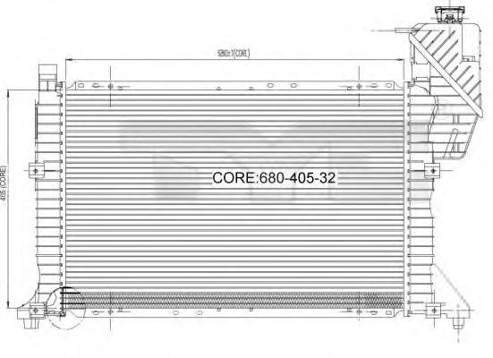 Радиатор, охлаждение двигателя TYC 721-0007