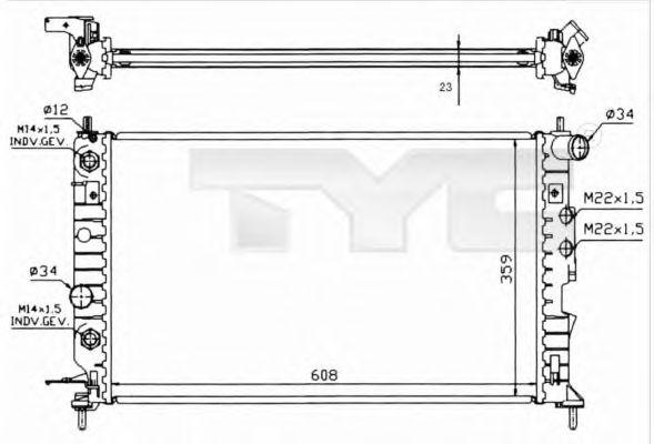 Радиатор, охлаждение двигателя TYC 725-0004-R