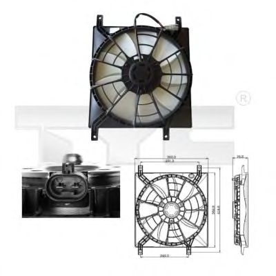 Вентилятор охлаждения TYC 809-0015