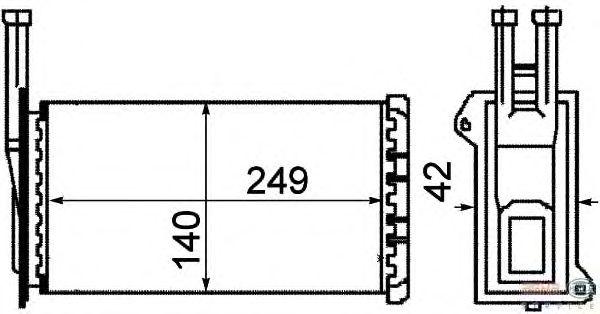 Радиатор отопителя BEHR HELLA SERVICE 8FH 351 311-571