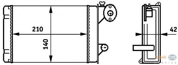 Радиатор отопителя BEHR HELLA SERVICE 8FH 351 313-341
