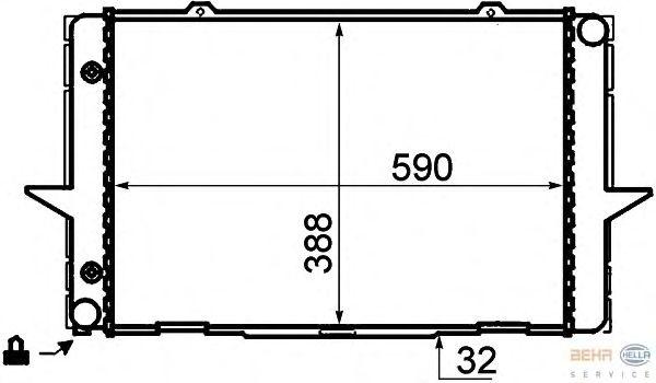 Радиатор, охлаждение двигателя BEHR HELLA SERVICE 8MK 376 706-741