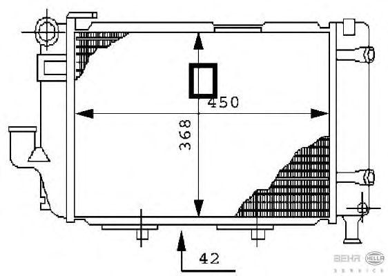 Радиатор, охлаждение двигателя BEHR HELLA SERVICE 8MK 376 711-361