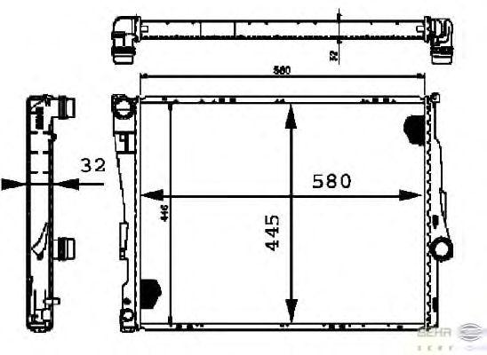 Радиатор, охлаждение двигателя BEHR HELLA SERVICE 8MK 376 716-251