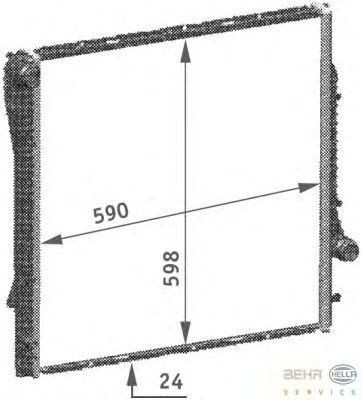 Радиатор, охлаждение двигателя BEHR HELLA SERVICE 8MK 376 718-771
