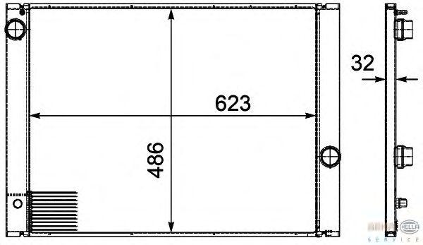 Радиатор, охлаждение двигателя BEHR HELLA SERVICE 8MK 376 719-131