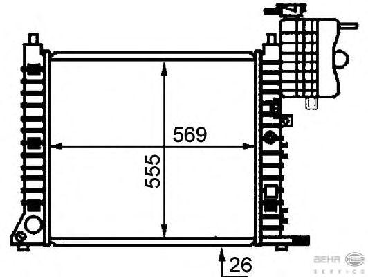 Радиатор, охлаждение двигателя BEHR HELLA SERVICE 8MK 376 721-381