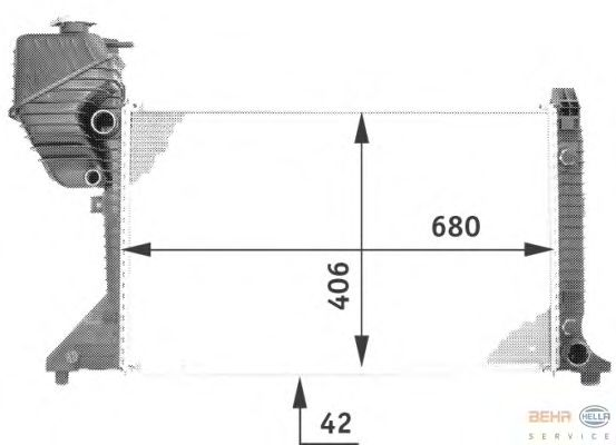 Радиатор, охлаждение двигателя BEHR HELLA SERVICE 8MK 376 722-001