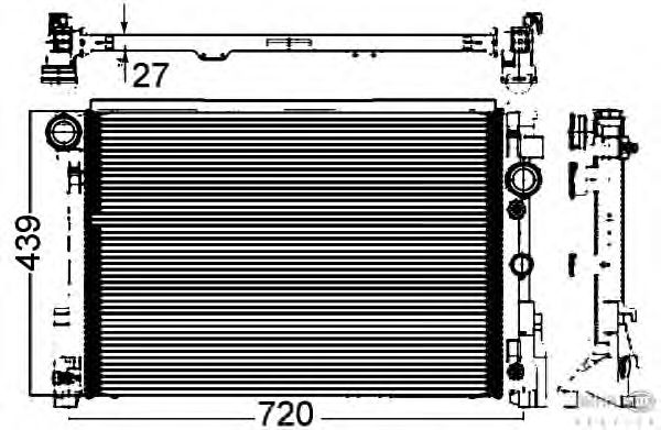 Радиатор, охлаждение двигателя BEHR HELLA SERVICE 8MK 376 749-551