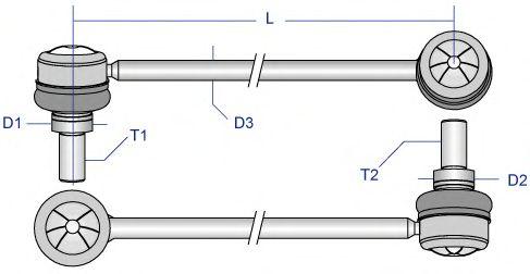 Тяга / стойка стабилизатора MOOG BM-LS-8768