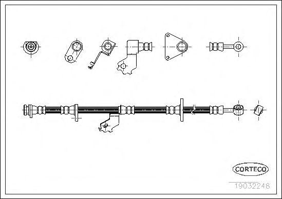 Тормозной шланг CORTECO 19032248