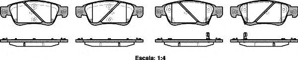 Тормозные колодки REMSA 1273.02