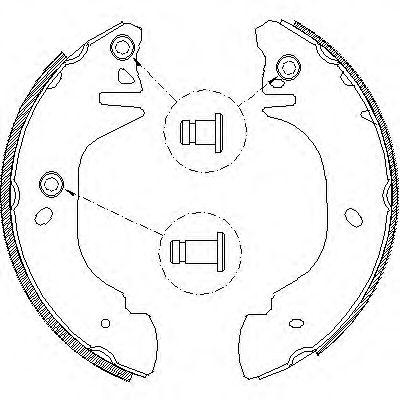 Тормозные колодки REMSA 4305.01