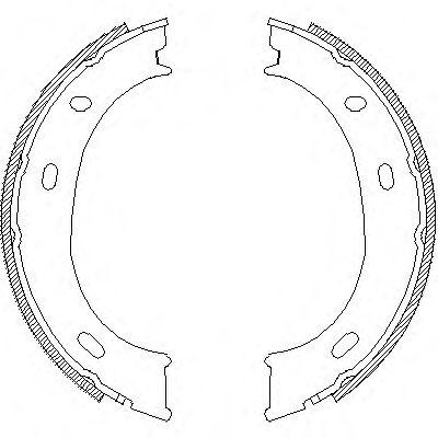 Тормозные колодки ручника REMSA 4710.01