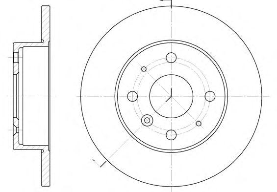 Тормозной диск REMSA 6363.00