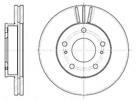 Тормозной диск REMSA 6444.10