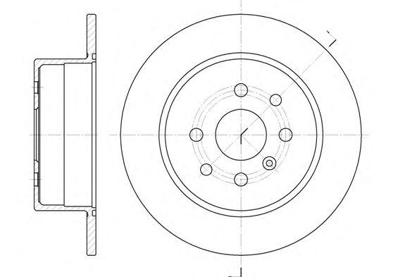 Тормозной диск REMSA 6454.00