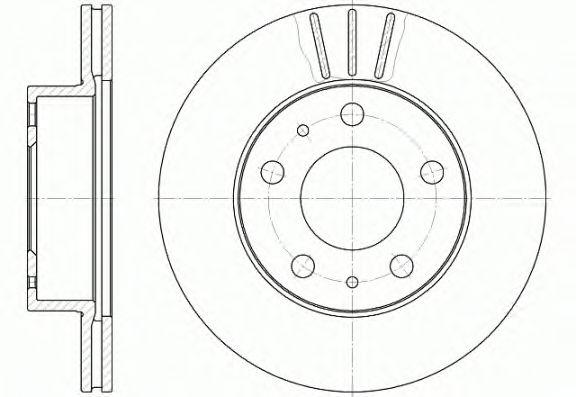 Тормозной диск REMSA 6504.10