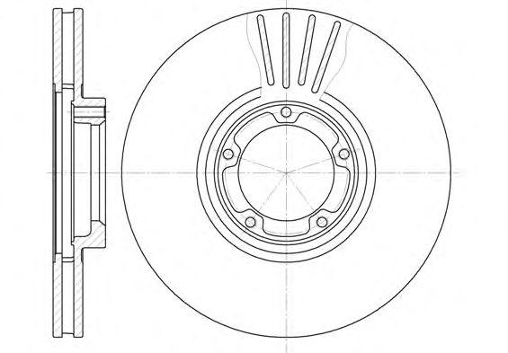 Тормозной диск REMSA 6518.10