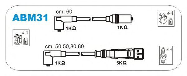 Комплект высоковольтных проводов JANMOR ABM31