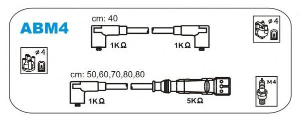 Комплект высоковольтных проводов JANMOR ABM4