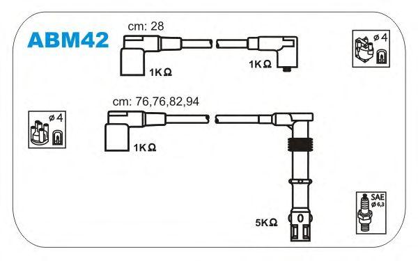 Комплект высоковольтных проводов JANMOR ABM42