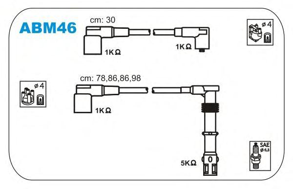 Комплект высоковольтных проводов JANMOR ABM46