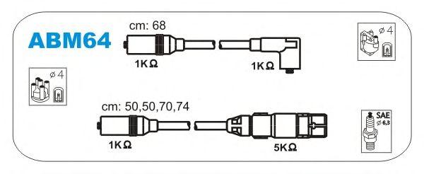Комплект высоковольтных проводов JANMOR ABM64