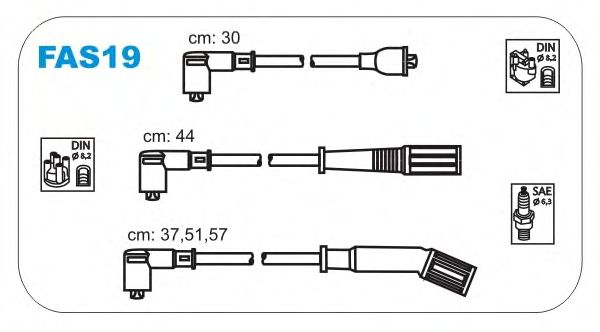 Комплект высоковольтных проводов JANMOR FAS19