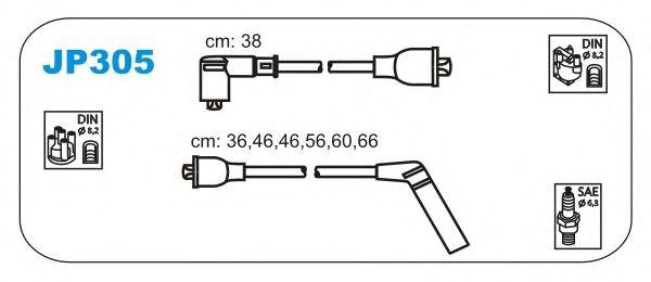 Комплект высоковольтных проводов JANMOR JP305