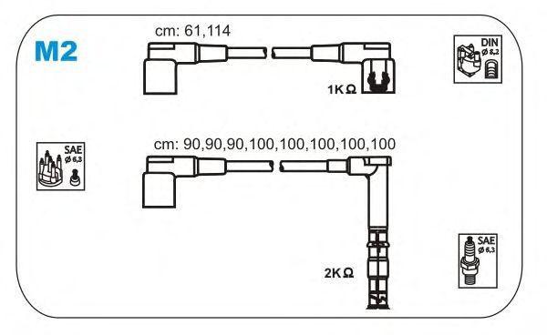 Комплект высоковольтных проводов JANMOR M2