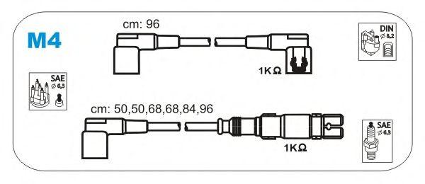 Комплект высоковольтных проводов JANMOR M4