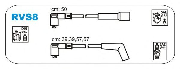 Комплект высоковольтных проводов JANMOR RVS8