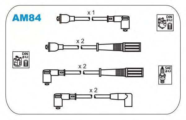 Комплект высоковольтных проводов JANMOR AM84