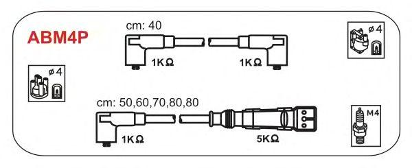 Комплект высоковольтных проводов JANMOR ABM4P