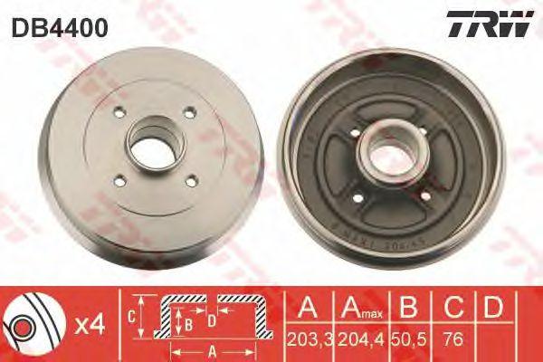 Тормозной барабан TRW DB4400